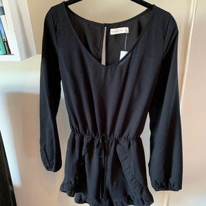 Abercrombie & Fitch Black Long Sleeve Romper